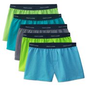 Fruit of the Loom Stripe and Solid Knit Cotton Boxers, 5 Pack (Big Boys)