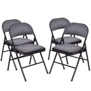 Costway Fabric Padded Folding Chair (Set of 4)