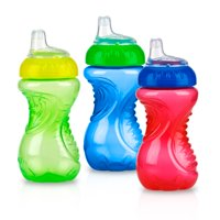 Nuby Easy Grip Soft Spout Sippy Cup - 3 pack