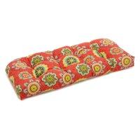 Blazing Needles REO Outdoor Spun Poly Loveseat Patio Bench Cushion - 42 x 19 in.
