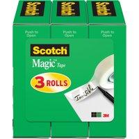 Scotch Magic Tape Refill 3 Pack, 1/2 in. x 1,296 in., Clear