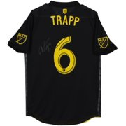 2507f01dd Wil Trapp Columbus Crew SC Autographed Match-Used Black  6 Jersey vs.  Chicago