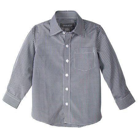 Old Navy Button Front Shirt (Spring Notion Boys' Long Sleeve Checkers Gingham Shirt)