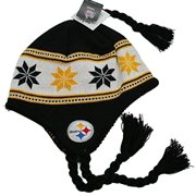 Youth NFL Pittsburgh Steelers Kids Knit Beanie Hat With Ear Flaps
