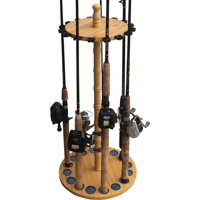 Rush Creek Creations 16 Fishing Rod Round Storage Rack