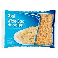 (4 pack) Great Value Wide Egg Noodles, 16 oz