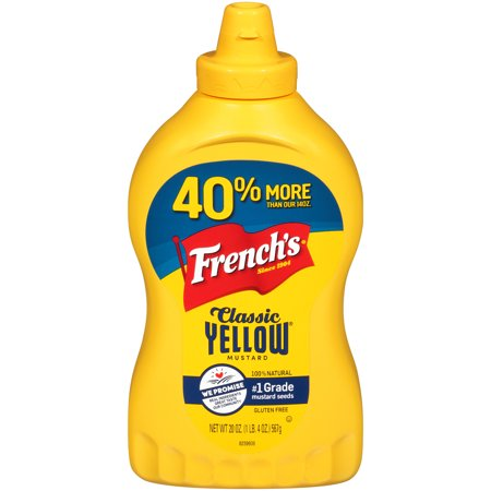 (3 Pack) French's Classic Yellow Mustard, 20 -