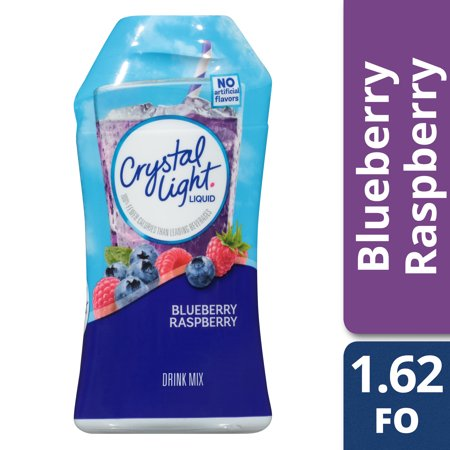 Energy Water Raspberry (Crystal Light Sugar Free Blueberry Raspberry Liquid Drink Mix, Caffeine Free, 1.62 fl oz Bottle )