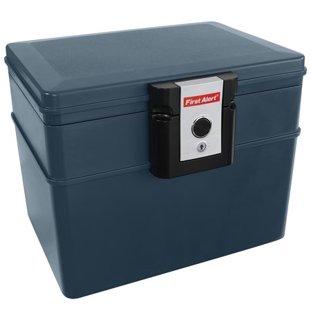 - First Alert 2037F 0.62 cu.ft Water and Fire Protector File Chest with Key Lock
