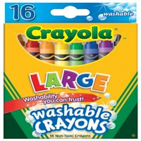 Crayola Large Non-Toxic Washable Crayon, 7/16 X 4 In, Assorted Color, 6