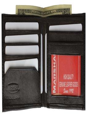 Mens Soft Genuine Leather Slim ID Bifold Wallet 60 (C) Black