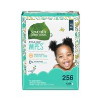 Seventh Generation Thick & Strong Free & Clear Baby Wipes Refill, 256 count