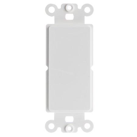 Blank Decora Insert (ACL Decora Blank Wall Plate Insert, White, 4 Pack )