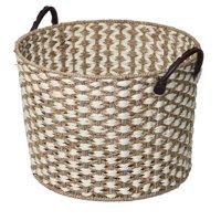 Better Homes & Gardens Seagrass Basket-White