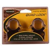 """Weaver 1"""" See-Thru Quad-Lock Scope Ring"""