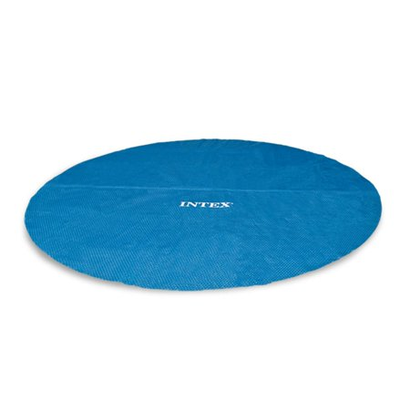 Intex 15 Foot Round Easy Set Vinyl Solar Cover for Swimming Pools, Blue | 29023E Automatic Solar Pool Covers