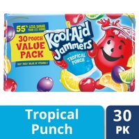 (2 pack) Kool-Aid Jammers Tropical Punch Flavored Drink 30-6 fl. oz. Pouches