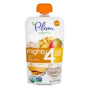 Plum Organics Mighty 4 Blends Mango & Pineapple, White Bean, Butternut Squash, Oats , 3.75 oz