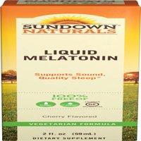Sundown Naturals Melatonin Liquid Nighttime Sleep Aid Cherry, 2.0 FL OZ