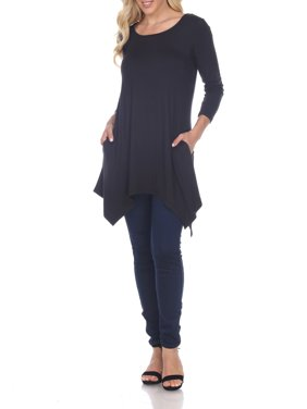 Women's Solid Color Tunic Top