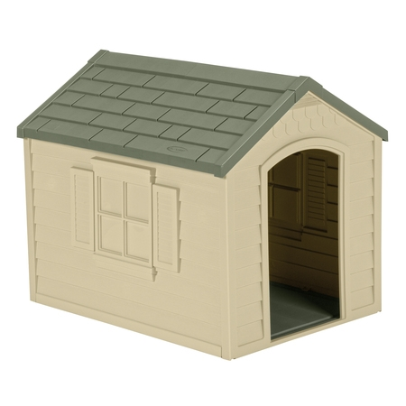 Suncast Deluxe Dog House, Medium, 27
