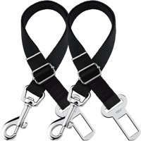TSV Dog Leash Seat Belt 2 Pack- Adjustable Pet Car SeatBelt Safety Lead for Dogs and Cats, Seatbelt Harness for all Vehicles