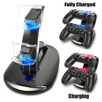 PS4 Controller Charger Charging Station, TSV Dual USB Charger Charging Station Stand for Sony PlayStation 4 PS4 Controller and PS4 Pro Controller