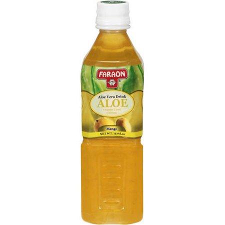 Faraon Mango Aloe Vera Drink, 16.9 oz - Orange Alcoholic Drinks Halloween