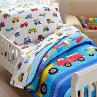 Olive Kids Trains, Planes, Trucks Toddler Bedding Sheet Set