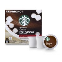 Starbucks Classic Hot Cocoa Single Serve Pods for Keurig Brewers, Box of 16 (16 total K-Cup Pods)
