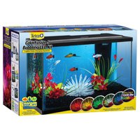 Tetra ColorFusion 5-Gallon Glass Bubbling Aquarium Starter Kit with LED