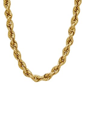 10K Yellow Gold 4.9mm Rope Chain Necklace, 22