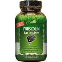 Irwin Naturals Forskolin Fat Loss Diet Weight Loss Pills, Liquid Soft Gels, 60 Ct.