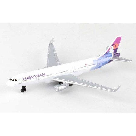 Hawaiian Airlines Single Plane, White - Daron RT2434 - Diecast Model Airplane