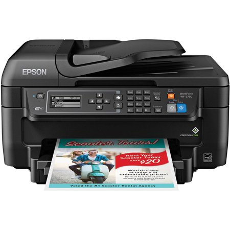 Epson WorkForce WF-2750 All-in-One Wireless Color Printer/Copier/Scanner/Fax (Best Small Office Scanner)