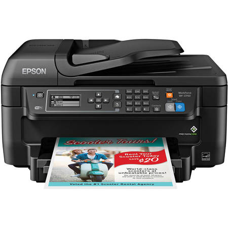 Copy Fax Usb (Epson WorkForce WF-2750 All-in-One Wireless Color Printer/Copier/Scanner/Fax)