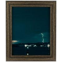 Craig Frames Bauhaus 125, Modern Black Tan Oak Picture Frame, 8x10 Inch