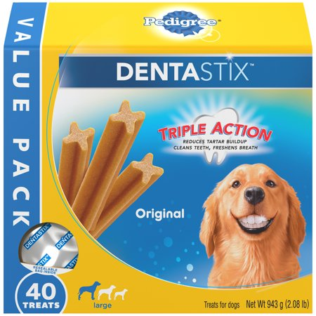 And Is Fish Treats (Pedigree Dentastix Large Dental Dog Treats Original, 2.08 lb. Value Pack (40 Treats))