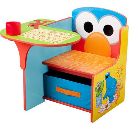 Sesame Street Elmo Toddler Desk Chair with Storage](Elmo Table)