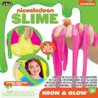 Nickelodeon Neon and Glow Slime Kit, STEM, by Cra-Z-Art