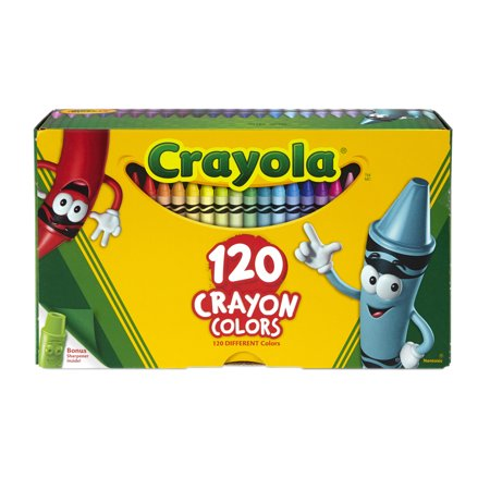 Crayon Assortment - Crayola Giant Box of Crayons, 120 Count