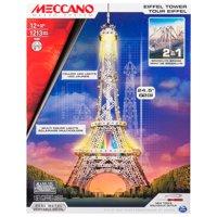 Meccano-Erector 2 in 1 Model Kit: Eiffel Tower & Brooklyn Bridge