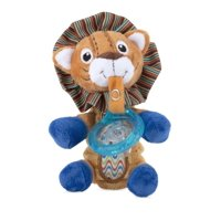 Nuby Snoozie Plush Pacifinder with Small Natural Flex Cherry Pacifier, Lion 0-6+ Months - 1 Count