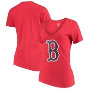 Women s 5th   Ocean by New Era Red Boston Red Sox V-Neck Team T 35b6e6ac49
