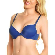 a665a6d004 Angelina Wired Push-Up Laser Cut Bras (6-Pack)