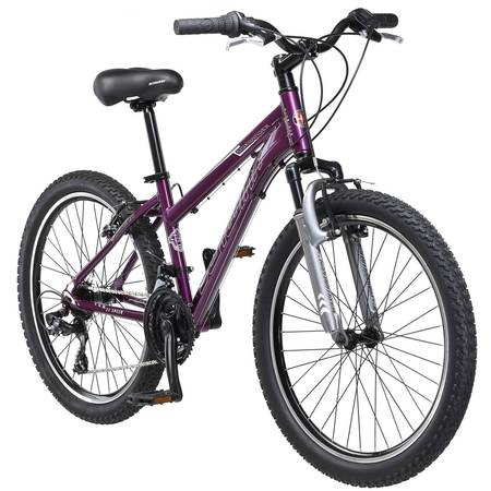 Schwinn Sidewinder Girl's Mountain Bike, 24 in wheels, Purple, steel frame
