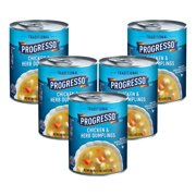 (5 Pack) Progresso Soup, Traditional, Chicken and Herb Dumplings Soup, 18.5 oz Can