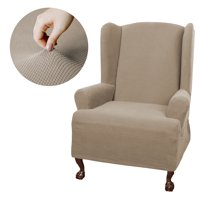 Mainstays Stretch Pixel 1 Piece Wing Chair Furniture Cover Slipcover