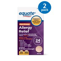Equate Non-Drowsy Allergy Relief Tablets, 180 mg, 30 count