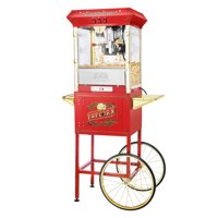 Antique Style 8oz Popcorn Popper Machine with Cart by Great Northern Popcorn